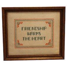 Friendship Quote Needlework