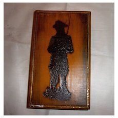 Silhouette Soldier on Wooden Storage Box