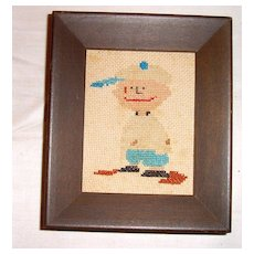 Charlie Brown in Cross Stitch