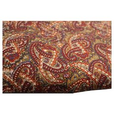 Fabric Yardage Paisley Brown