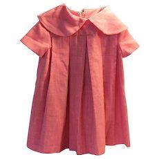 Girls Linen Dress from the 60's-70s