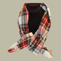 Tartan Winter Warm Scarf  cashmere Wool