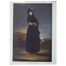 Goya-Portrait of the Marquesa de las Mercedes FREE S&H