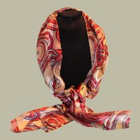 Fall Color Silk Scarf Swirl Design