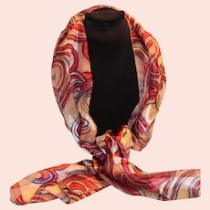 Fall Color Silk Scarf Swirl Design