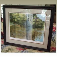 """Ken Danby Signed Limited Edition Lithograph """"Riverbank Reflections"""""""