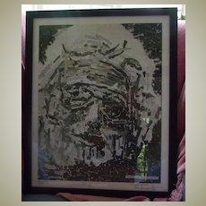 Moretz Collage Art Portrait - 1997