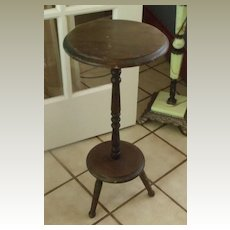 Candle Stand in walnut wood