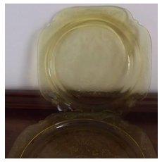 Amber Glass Dinnerware
