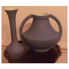 COORS Art Deco Blue Estate Vase