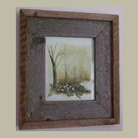 Watercolor Original Painting Trees FREE S&H