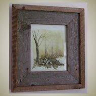 Watercolor Original Painting Trees