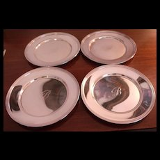 Silver Bread and Butter Engraved Plates