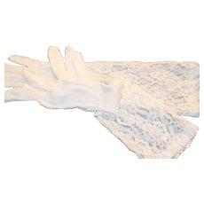 Opera Gloves Vintage Lace