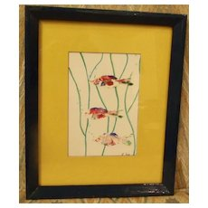 Original Art Thumbprint Fish