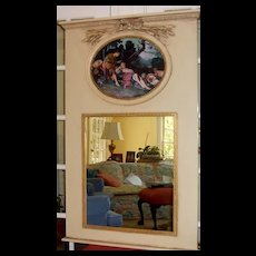 Mirror Trumeau wih Oil Painted Canvas