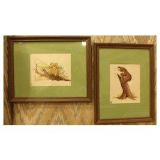 Lithograph Animals-Stitchery