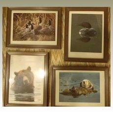 Animal Framed Lithographs by Thomas P Mangcham
