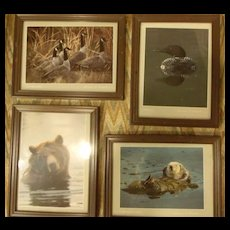 Animal Framed Lithographs by Thomas P Mangcham