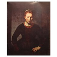 Rembrandt's Young Girl leaning on a Door 1606