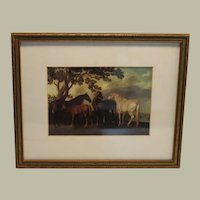 Horses Lithograph by George Stubbs FREE S&H