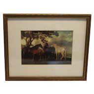 Horses Lithograph by George Stubbs