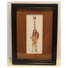 Giraffe Mini Framed Art