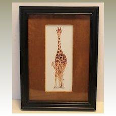 Giraffe Mini Framed Art