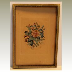 Etching Turn of Century Original Art Framed
