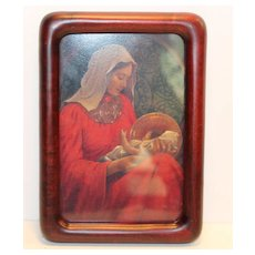 Madonna and Child in Reds