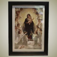 Madonna and Child in mini black frame