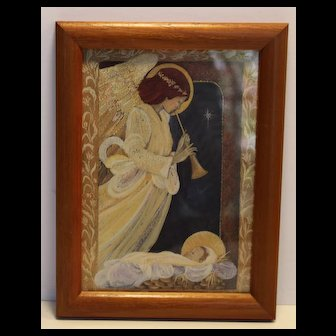 Miniature Framed Art: Angel with Baby