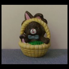 Miniature Porcelain Basket with Bunny Porcelain