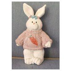 Lovely Easter Bunny Porcelain Figurine