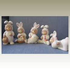 Bunny Babies in Bisque Porcelain
