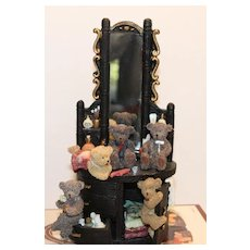 Bears at Vanity: Resin Statuary Figurine