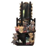 Bears at Vanity: Resin Statuary Figurine