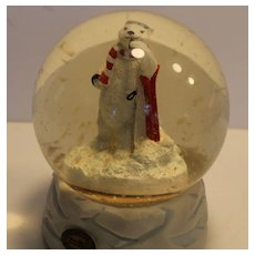 Coco Cola Snow Globe Polar Bear Musical