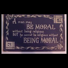 Quote Poster:  A Man Might be Moral