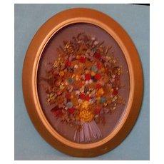 Framed Dried Floral Arrangement