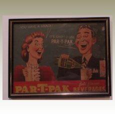 Advertisement Vintage Sign-Par-T- PAC