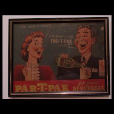 Advertisement Vintage Sign-Par-T- PAC
