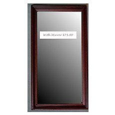 Frame Walnut Wood-Mirror