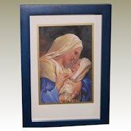 Madonna and Child Framed Art Miniature
