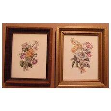 Floral Print Pair-Miniature
