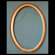 Framing-Oval Gold Picture Frame-Picture Matting