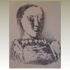 Picasso Le chandail brode' Lithograph