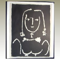 Picasso Lithograph Buste Modern' Style