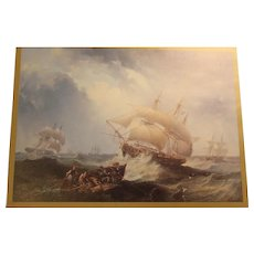 Ship Print Framed - Shipping in the Open Sea