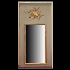 Musical Motif Trumeau Musical Mirror in Blue